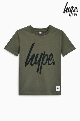 Hype ロゴ入りTシャツ(3歳~12歳)カーキ