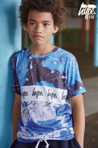 Hypeスプラッターロゴ入りTシャツ(3歳~12歳)ブルー