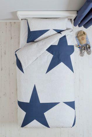 シングルサイズ 掛×枕カバー2 セット (スターネイビー)