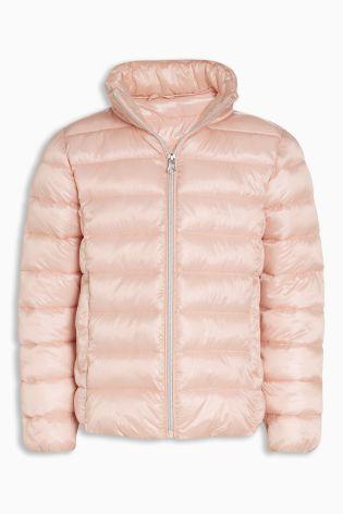 ライトウェイト パッド入りジャケット  (7~12 歳) ピンク