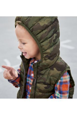 中綿入りジレ(2~6歳) カモフラージュ