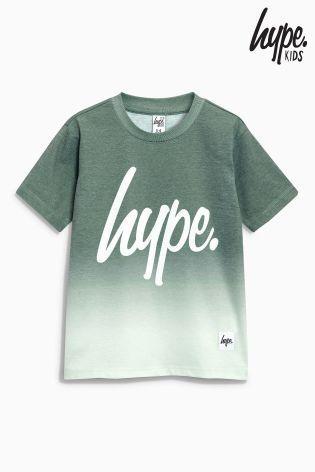 Hype フェイドプリント Tシャツ(3歳~12歳)カーキ