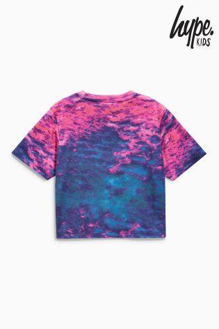 Hype プリント Crop クロップドTシャツ(7歳~12歳)パープル
