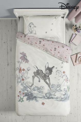 Disney バンビ & タンパー ベッドリネンシングルサイズ 掛×枕カバー