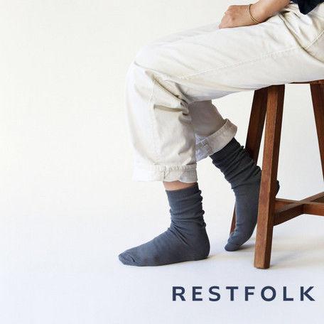 RESTFOLK ダブルシルクソックス  ブレイジング 冷えとり res004