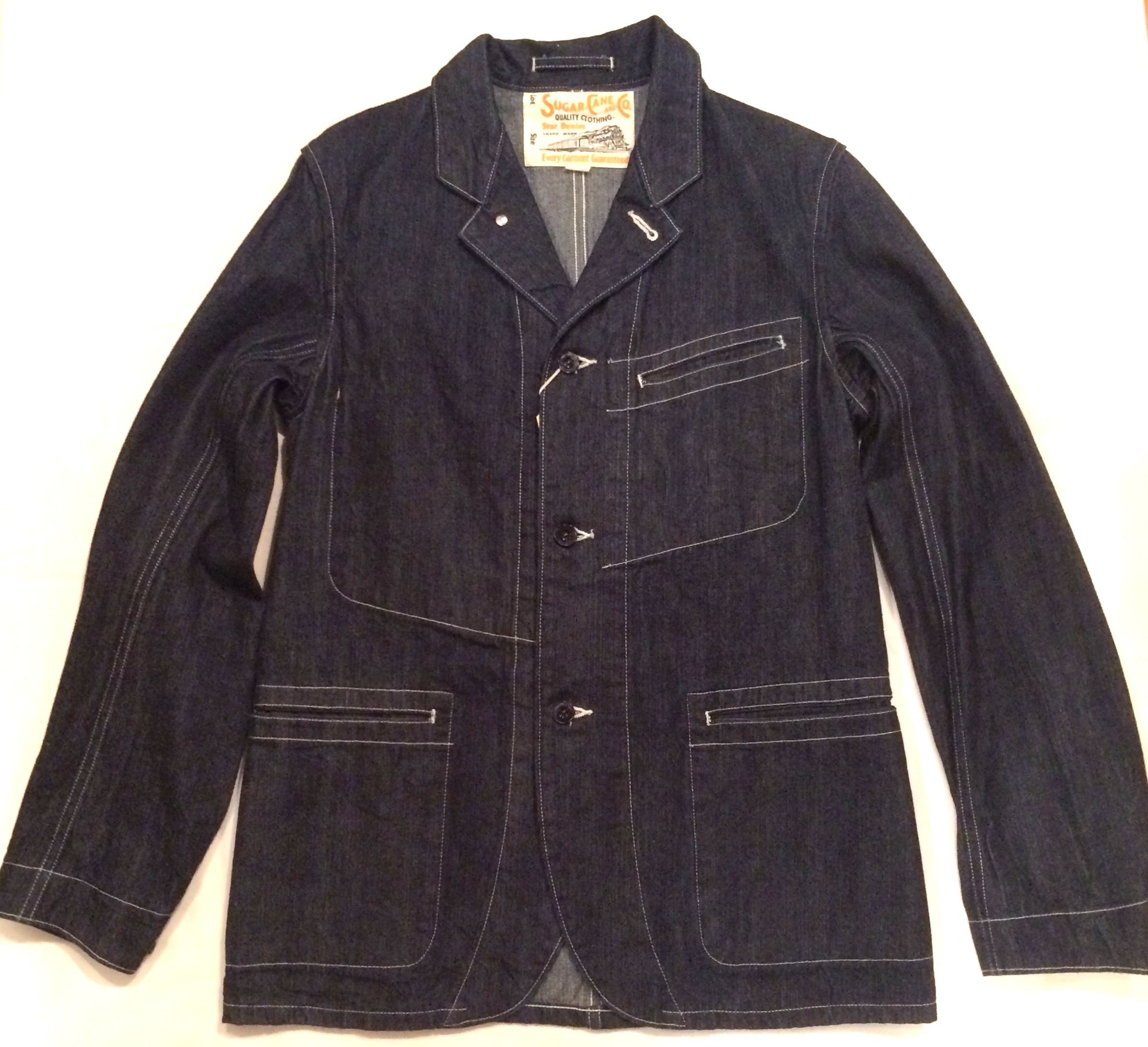 SUGAR CANE【シュガーケーン】 11.75oz.BLUE DENIM SACK COAT[SC12651]