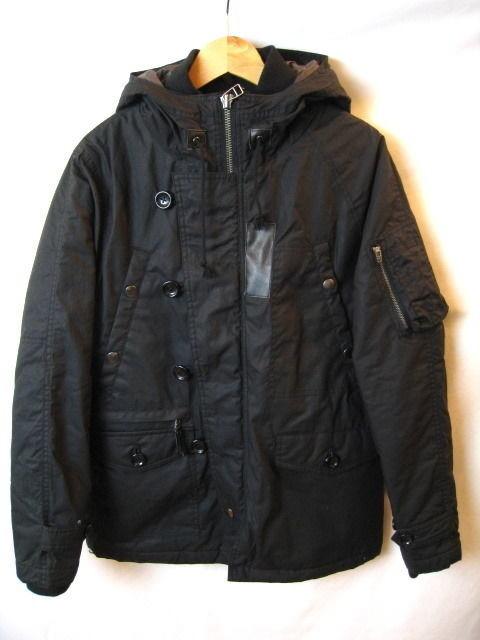 Audience コーティングツイルレニューN3B中綿ジャケット AUD2508 ブラック