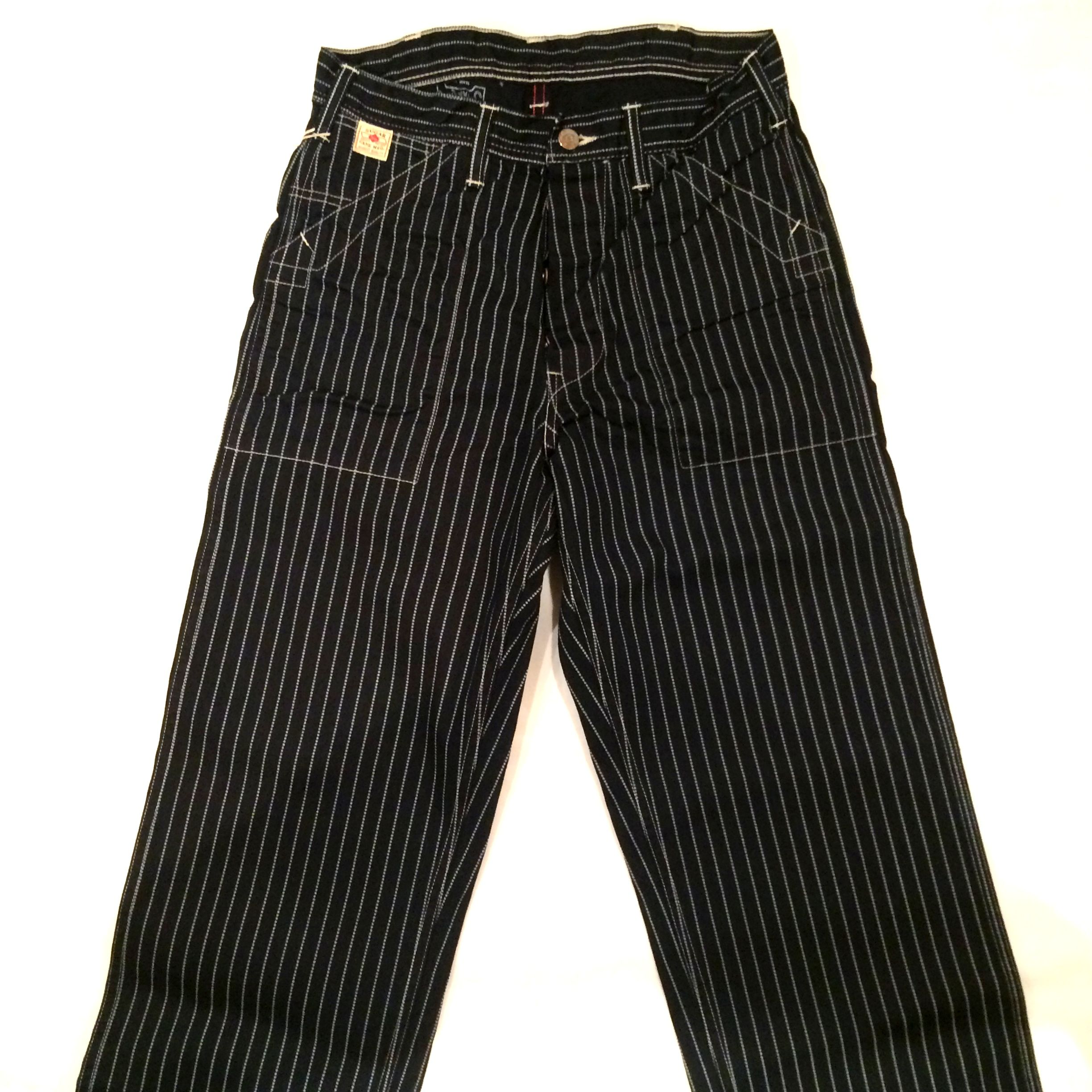 SUGAR CANE WABASH STRIPE WORK PANTS SC40786