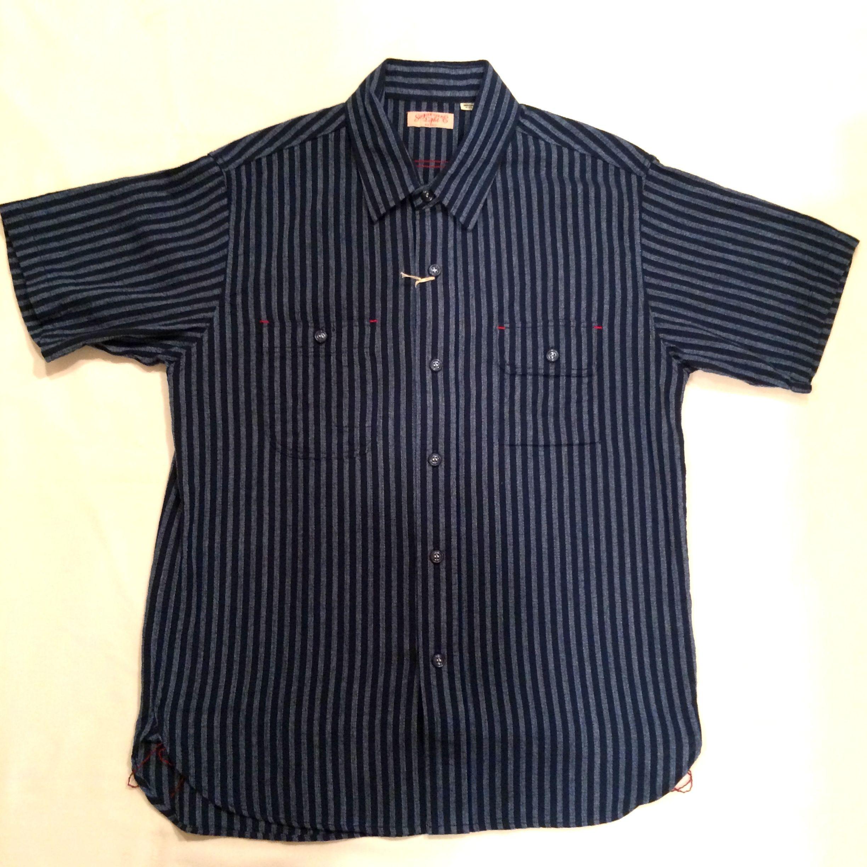 SUGAR CANE Light/シュガーケーン ライト 半袖シャツ SC37289 「 PANAMA STRIPE/パナマストライプ」 半袖ワークシャツ