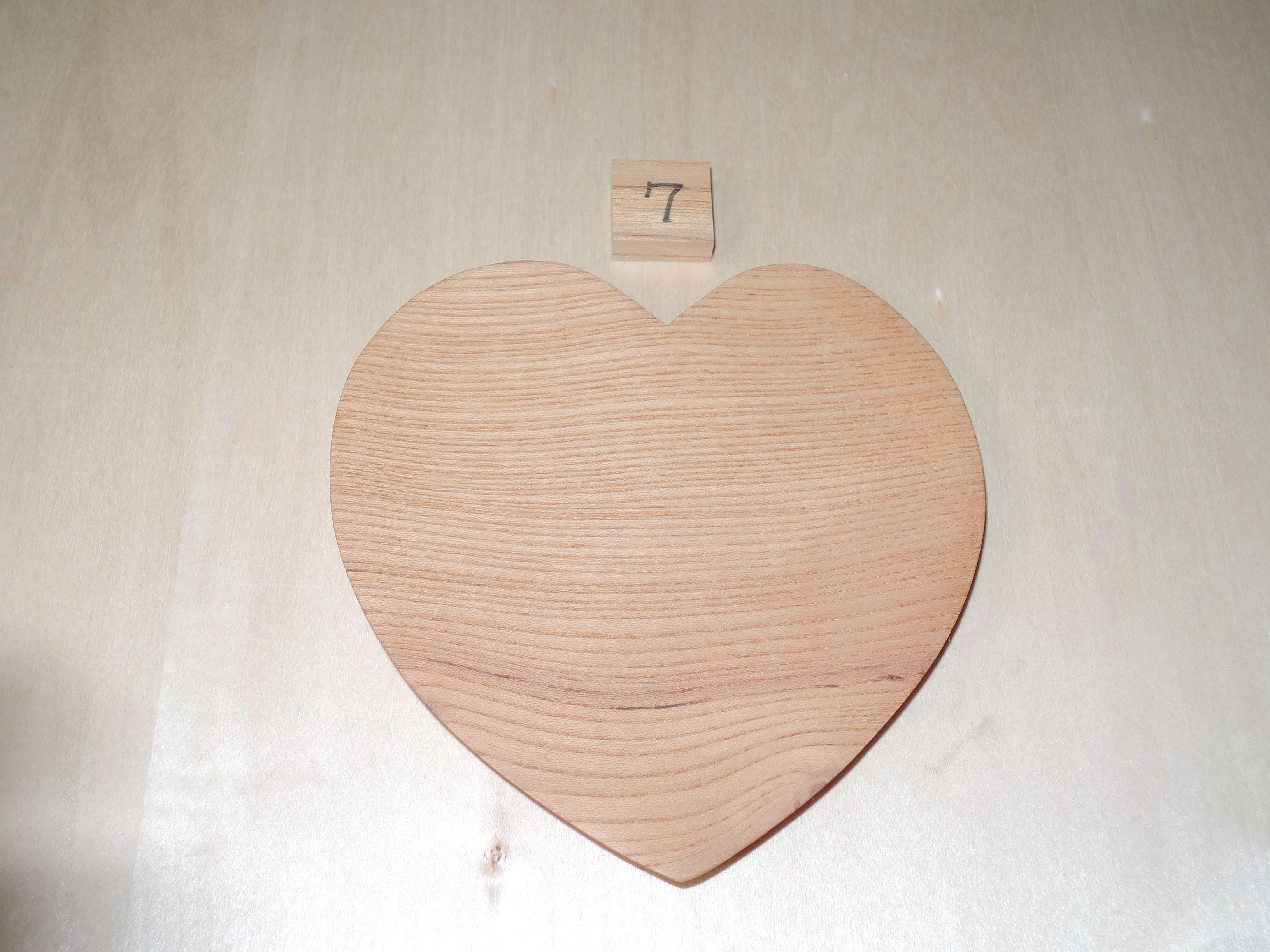 木製 ハート型 プレート 小皿(大) けやき
