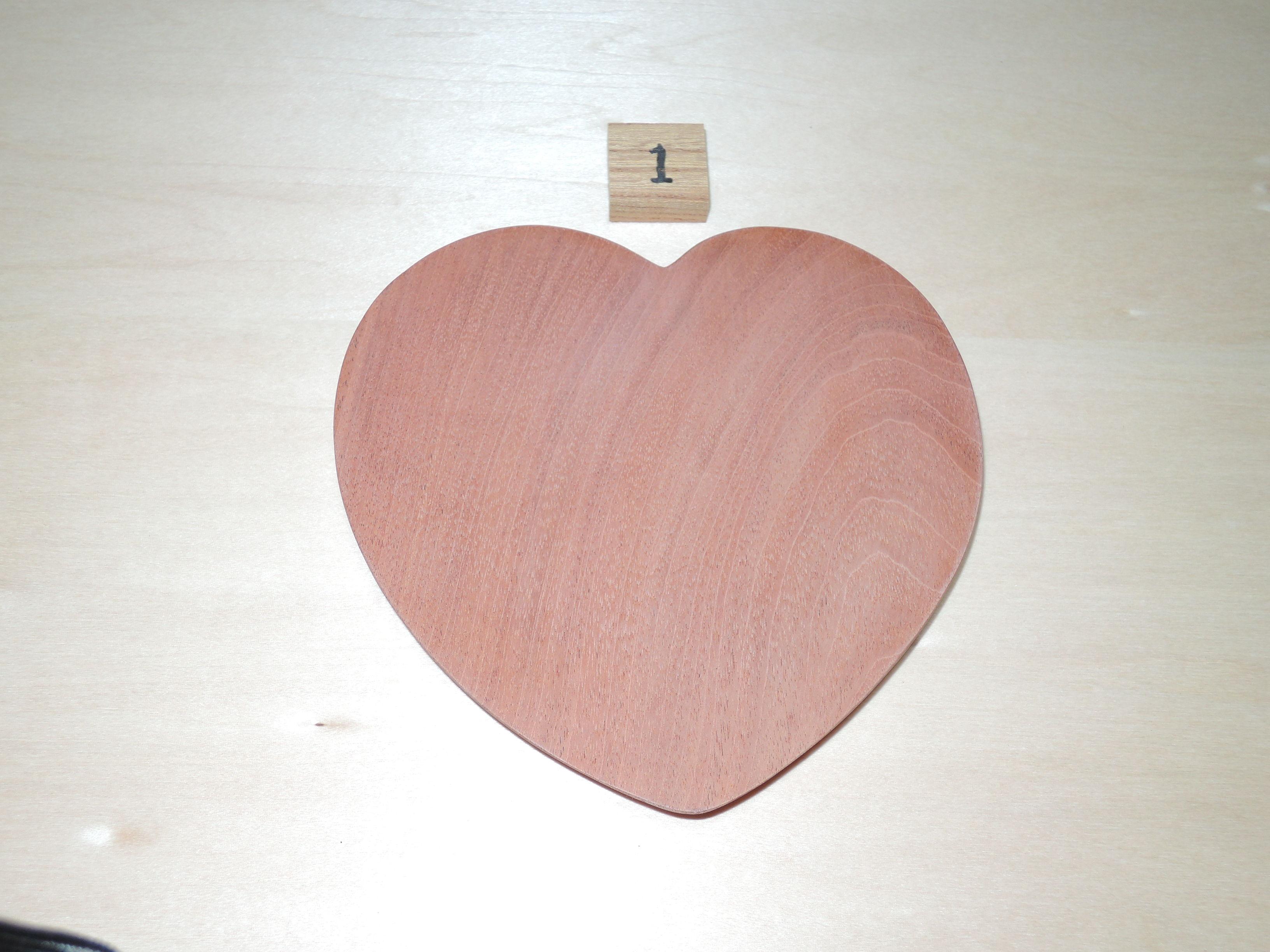 木製 ハート型 プレート 小皿(大) かりん
