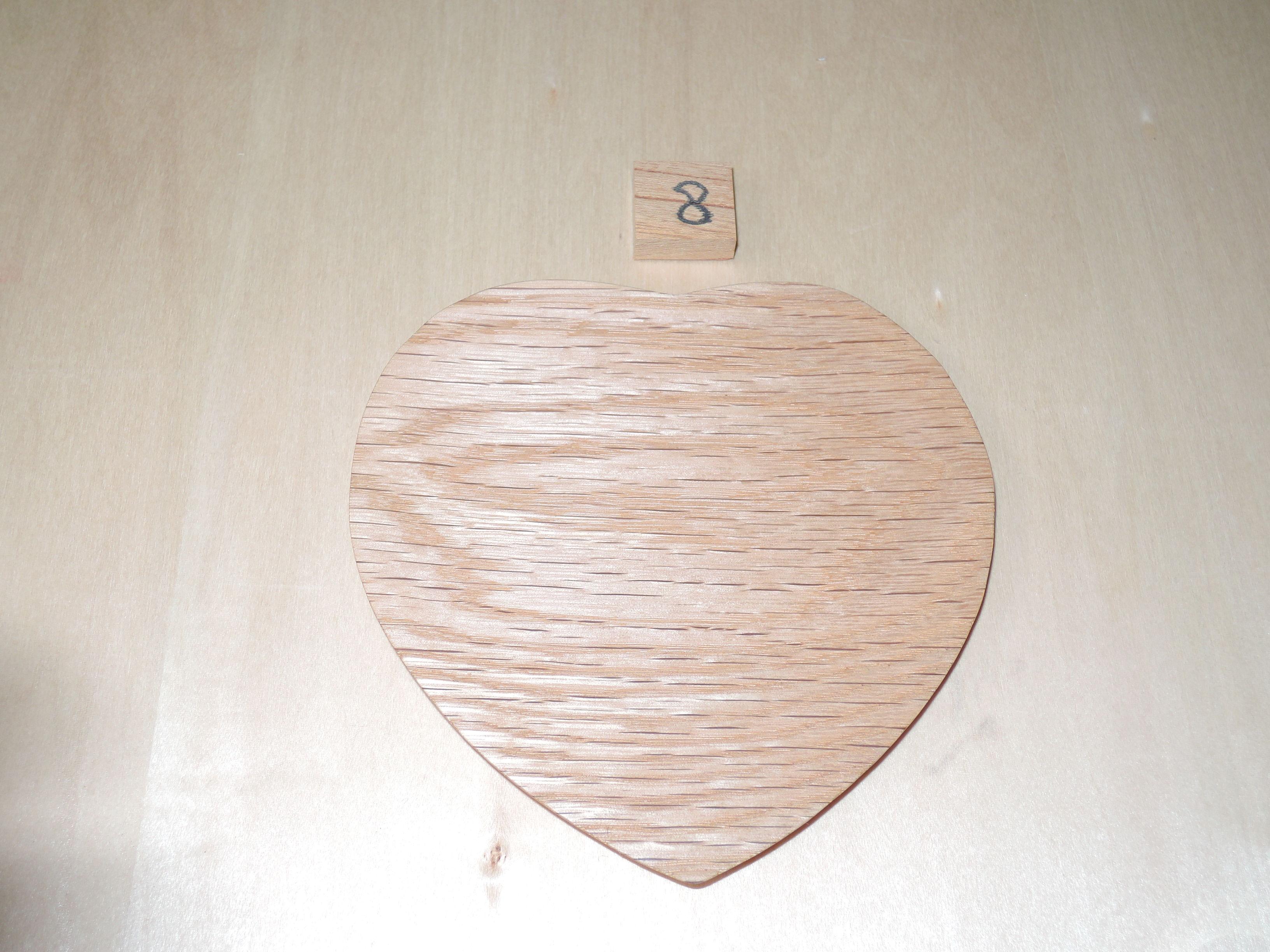 木製 ハート型 プレート 小皿(大) オーク