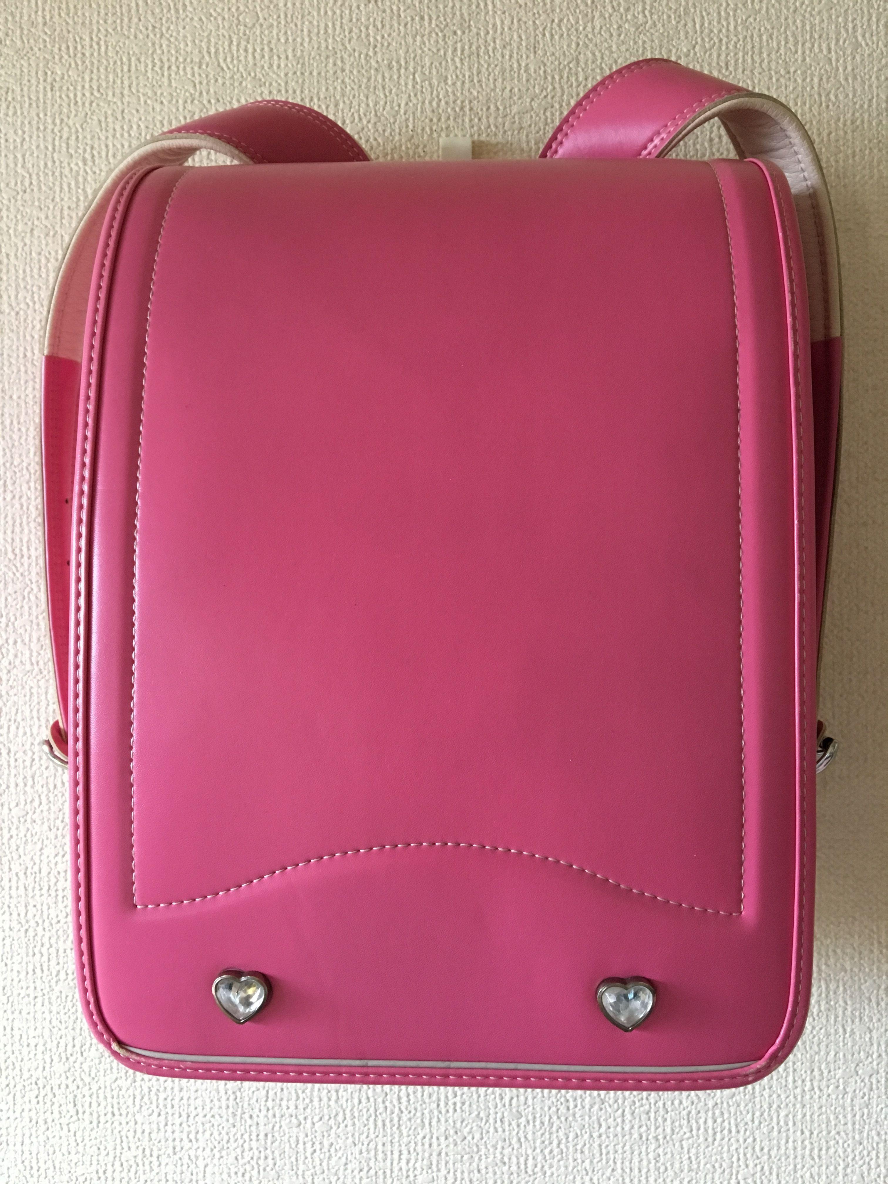 ランドセル olivier enfants 日本製  ピンク 綺麗なワンオーナー中古 オートロック式 ハートモチーフ