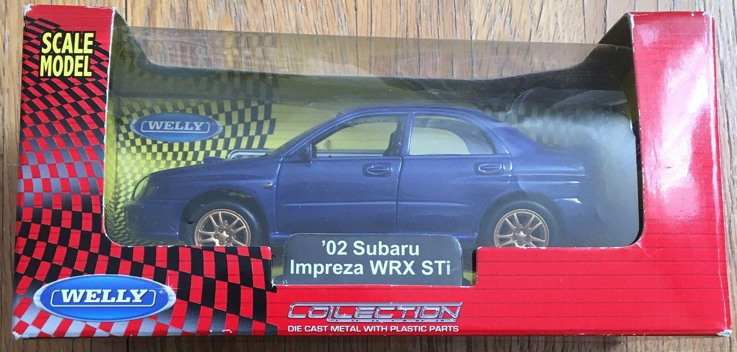 WELLY 2002 スバル インプレッサ WRX STi ダイキャストプルバックミニカー 中古