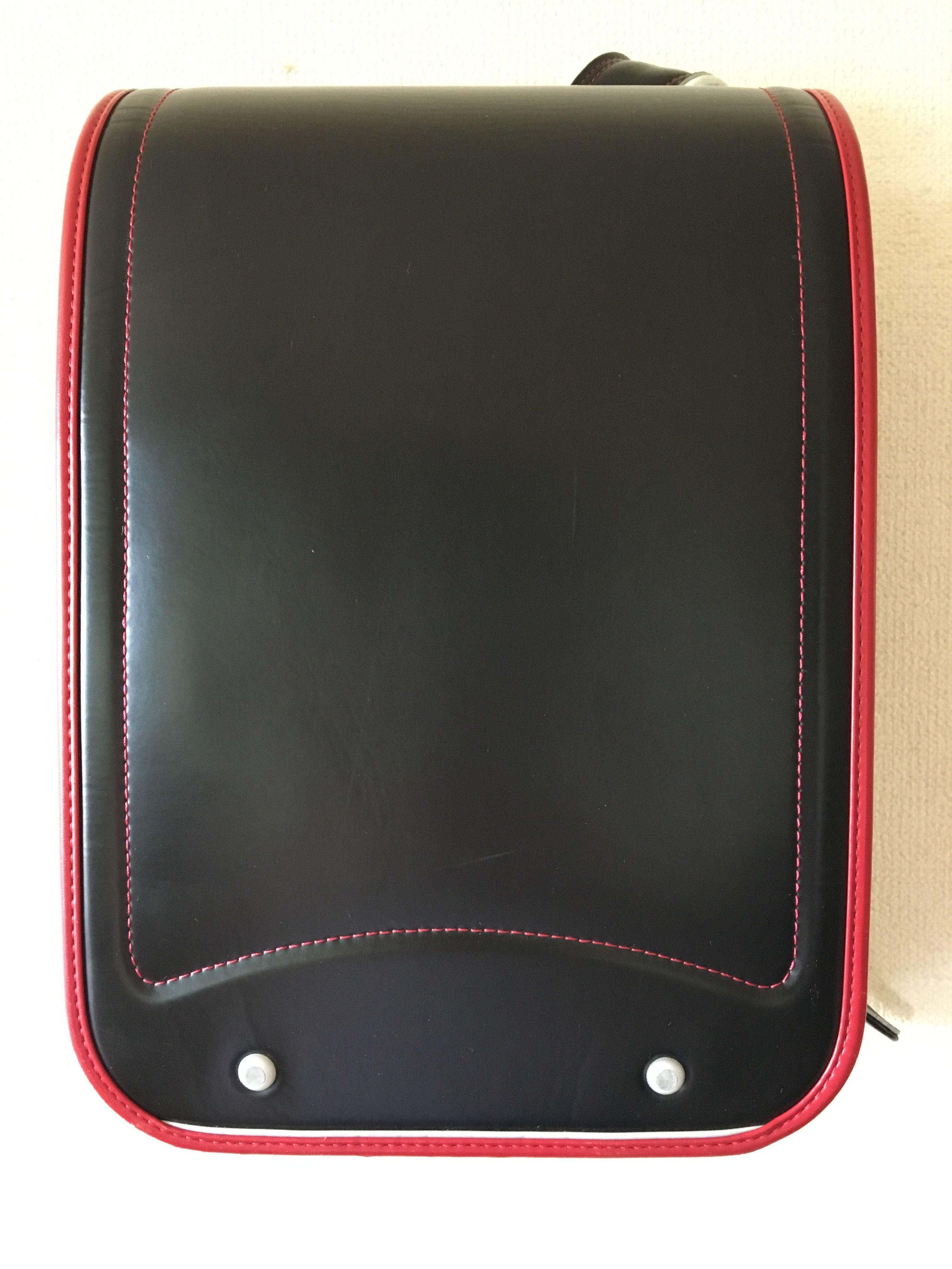 ランドセル olivier enfants 日本製  黒×赤ライン 綺麗なワンオーナー中古 オートロック式
