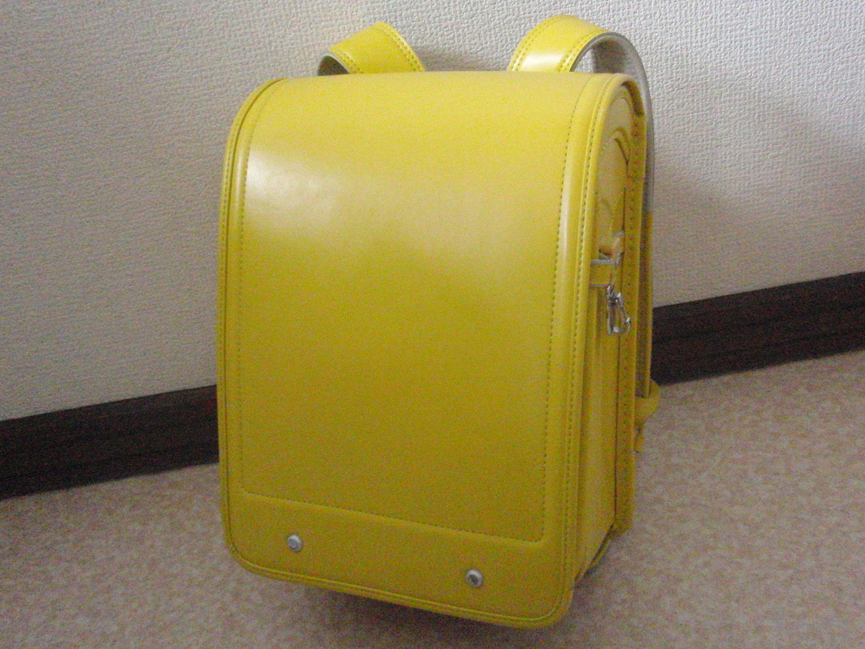 ランドセル トップバリュ 黄色 ワンオーナー中古 オートロック式