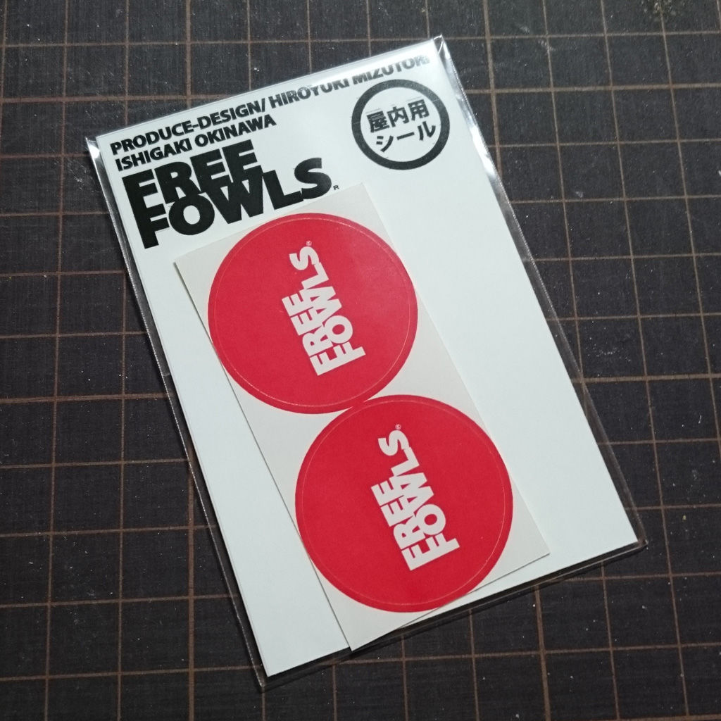 【屋内用】FREE FOWLS ショップロゴシール(2枚入)