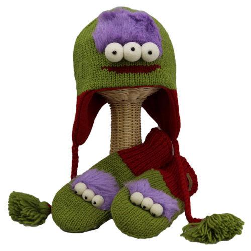 【 knit wits】ニットウィッツ エイリアン 手編みニット ウィンター/ミトン 大人・子供セット