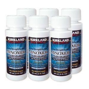 カークランド ミノキシジル5%溶液【発毛塗布薬】米国製純正品6本 (6ヶ月分)
