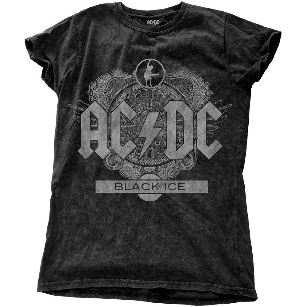 AC/DC レディース ファッション T (LADIES FASHION TEE): BLACK ICE