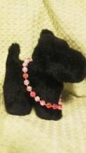 アクリルビーズとガラスビーズのネックレス(赤とピンク)