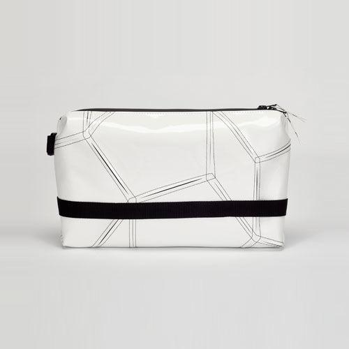 014 CLUTCH BAG _white×black