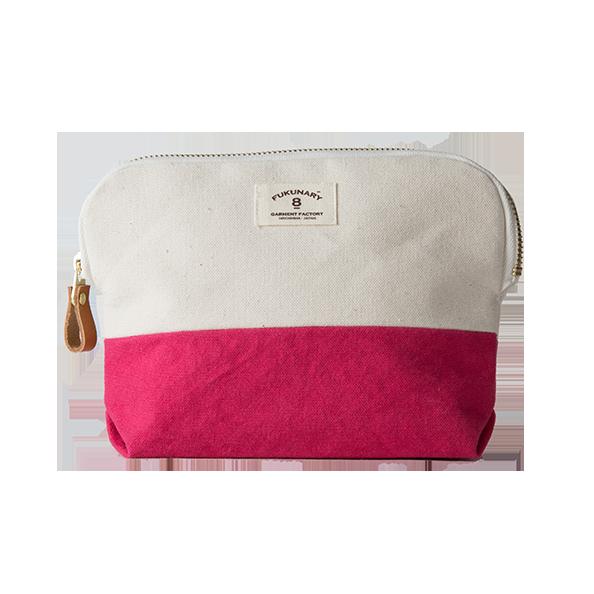 03 ポーチ 染色 ピンク