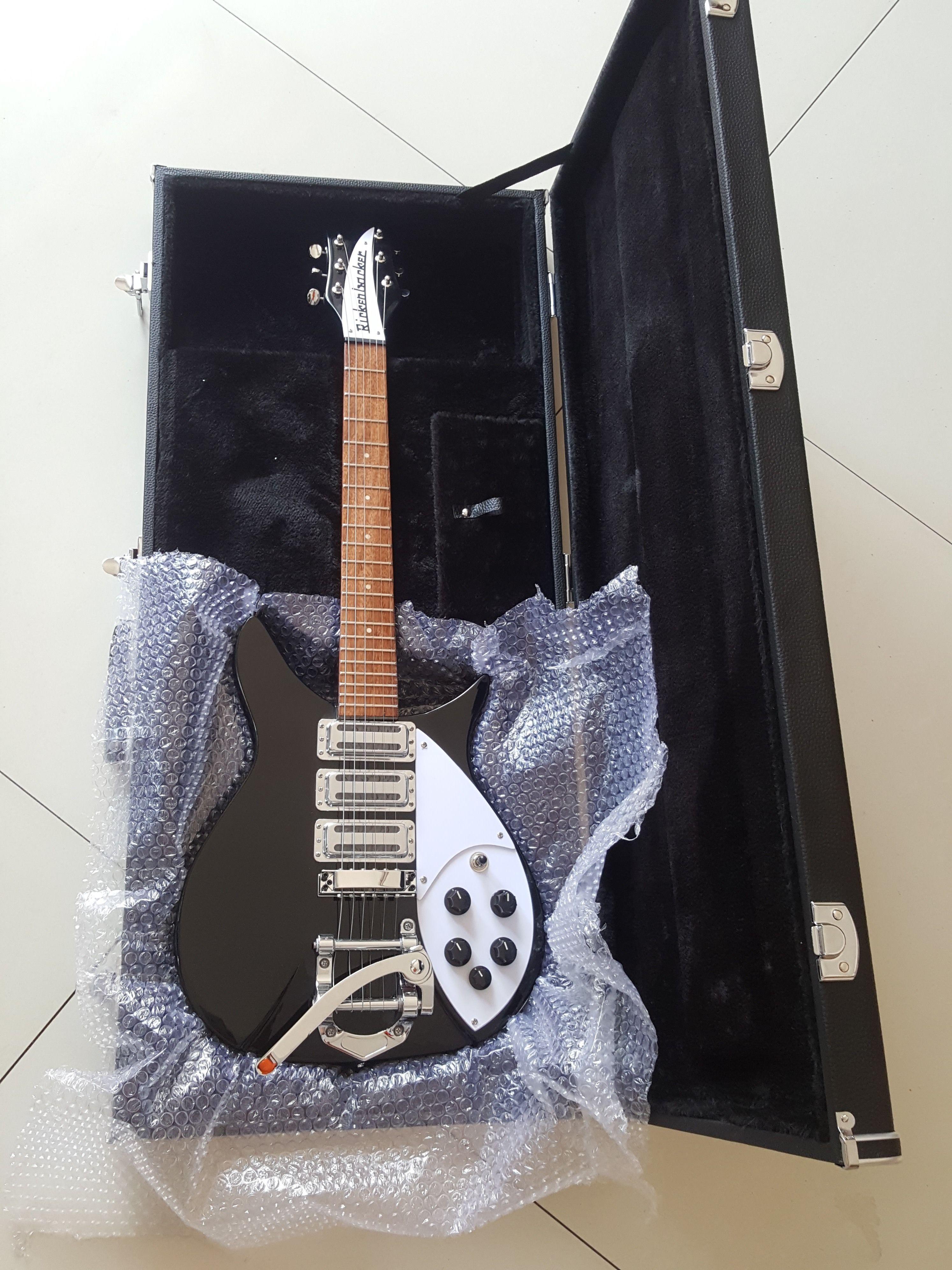 リッケンバッカー タイプ エレキギター 初心者 扱いやすい rickenbacker グローバルカスタムギター 専用ハードケース付き