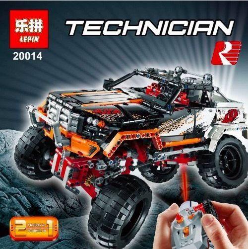 レゴ 9398相当 互換品 4 × 4 Rock Crawler モデル 四輪駆動オフロード車 ブロック おもちゃ 電動モーター付き 知育玩具