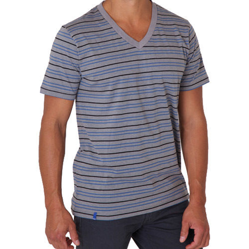PACT/パクト【S13-MSV-GRS】メンズ Tシャツ MEN'S-V- NECK-GRAVEL STRIPE