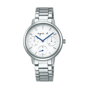 アニエスb腕時計 ☆ ホワイトダイヤルに3つのサブダイヤル〔FCST991〕・・新品・保証書付