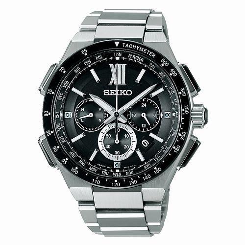 SEIKO Brightz(ブライツ)ストップウオッチ機能付き・ソーラー電波腕時計〔SAGA205 〕