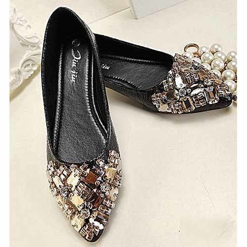 SALE40%OFFJiu Jiu Shiney Flat Pumps BK/GD
