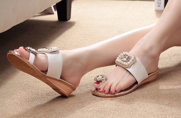 【Sale】 Pearl shiney Sandal(パールシャイニーサンダル)
