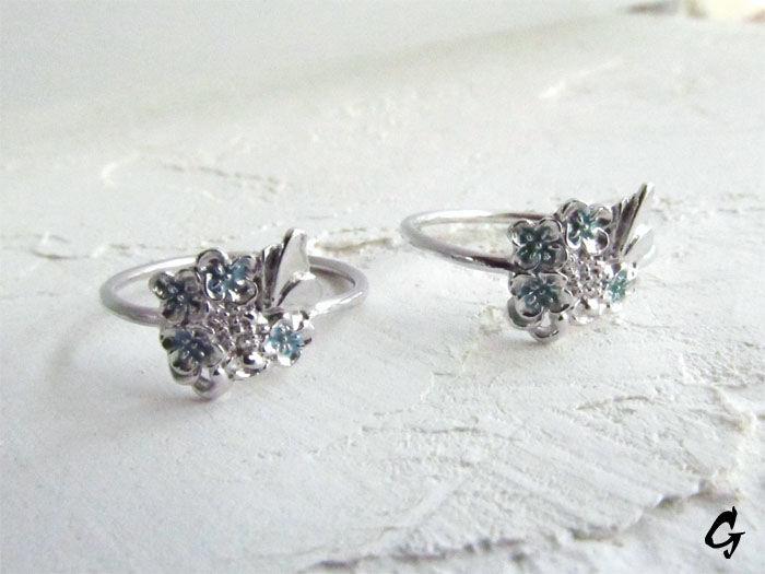 花菜と蝶のリング