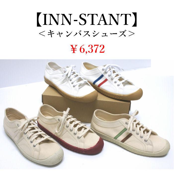 メンズ【INN-STANT】キャンバススニーカー