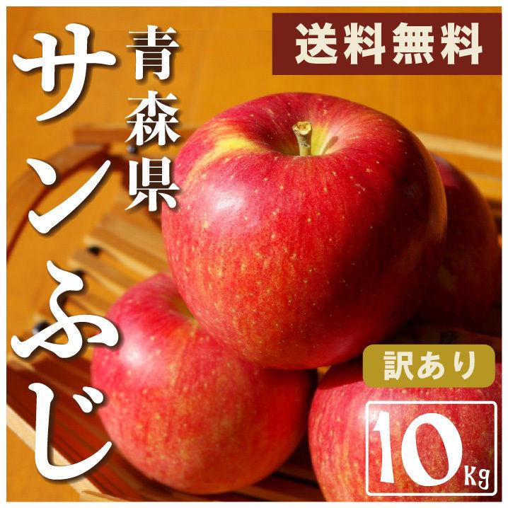 青森県産【サンふじりんご 】ご家庭用 10kg/箱