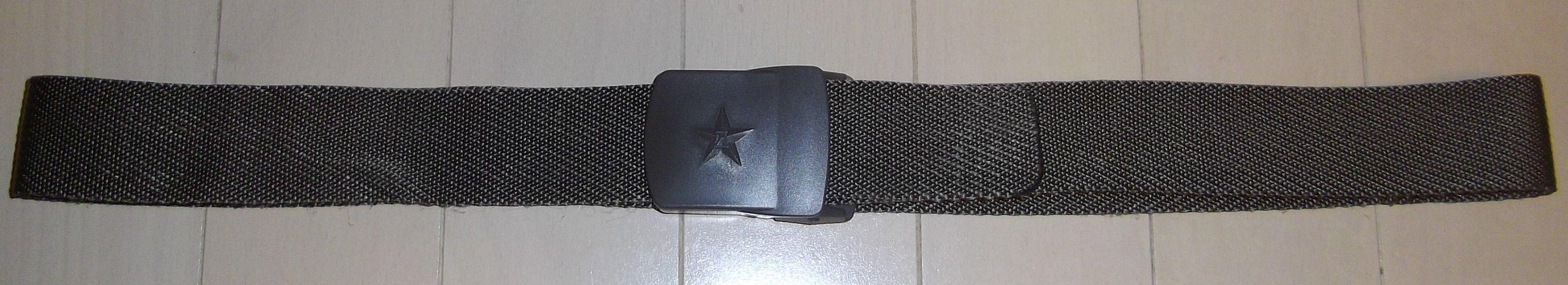 中国人民解放軍07式迷彩服ズボン用編みベルト