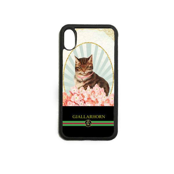 GJALLARHORN ギャラルホルン iPhone ケース Cat collage PRINT  BLK