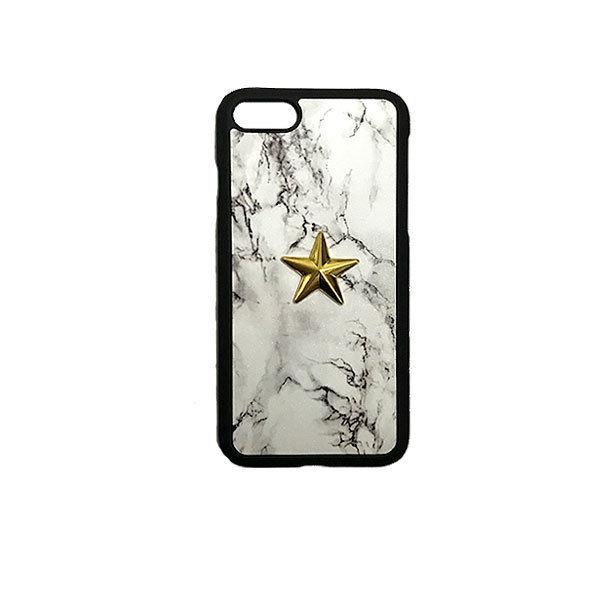 GJALLARHORN ギャラルホルン iPhone ケース Marble stone textureWith ONESTAR バンパータイプ  MarvleWhite×GOLD