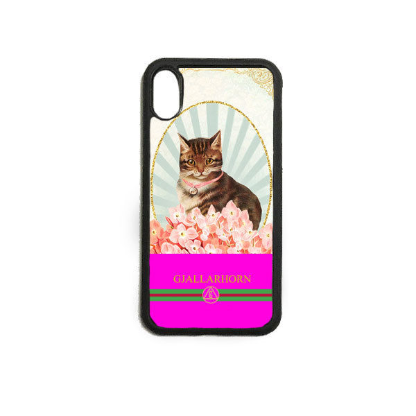 GJALLARHORN ギャラルホルン iPhone ケース Cat collage PRINT  PINK
