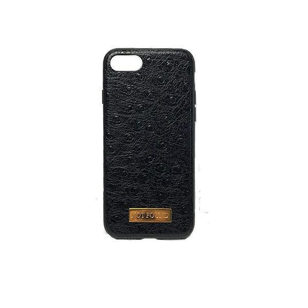4.7inch GJALLARHORN ギャラルホルン iPhone ケース TPUバンパーオーストリッチ型押しレザーケース NOTFOUND ブラック