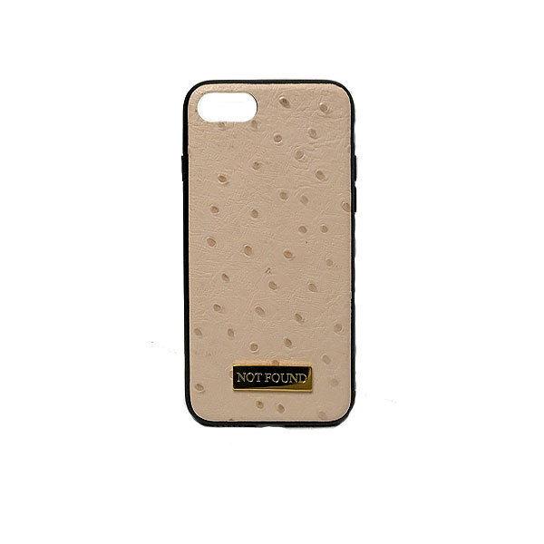 4.7inch GJALLARHORN ギャラルホルン iPhone ケース TPUバンパーオーストリッチ型押しレザーケース NOTFOUND ベージュ