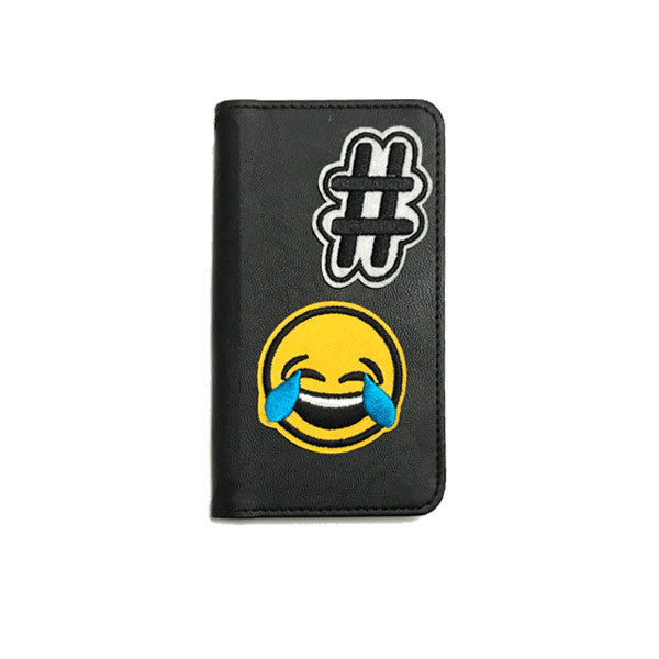 BAMBINA by GJALLARHORNバンビーナバイギャラルホルン  #emoji「BIGSMILE」 ワッペン 手帳型フラップケース