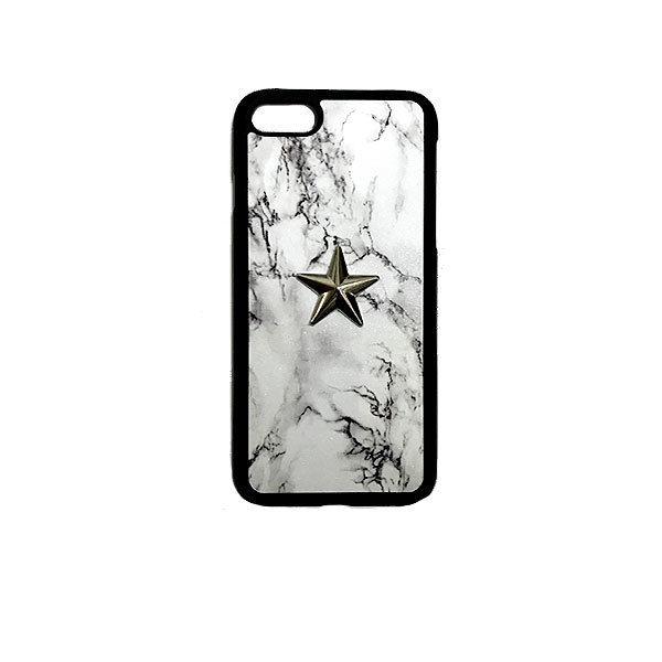 GJALLARHORN ギャラルホルン iPhone ケース Marble stone textureWith ONESTAR バンパータイプ  MarvleWhite×SLV