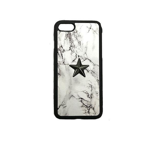 GJALLARHORN ギャラルホルン iPhone ケース Marble stone textureWith ONESTAR バンパータイプ  MarvleWhite×BLK