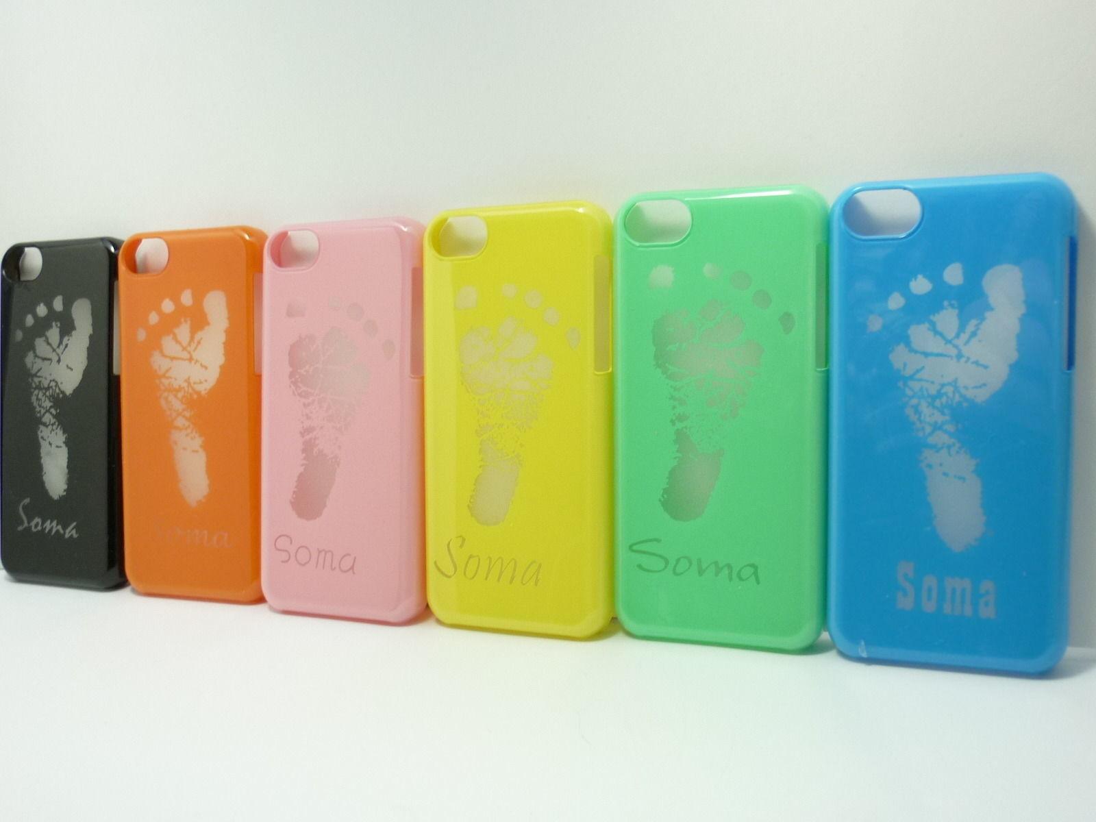 iPhone5c 足形カバーケース(色抜き)