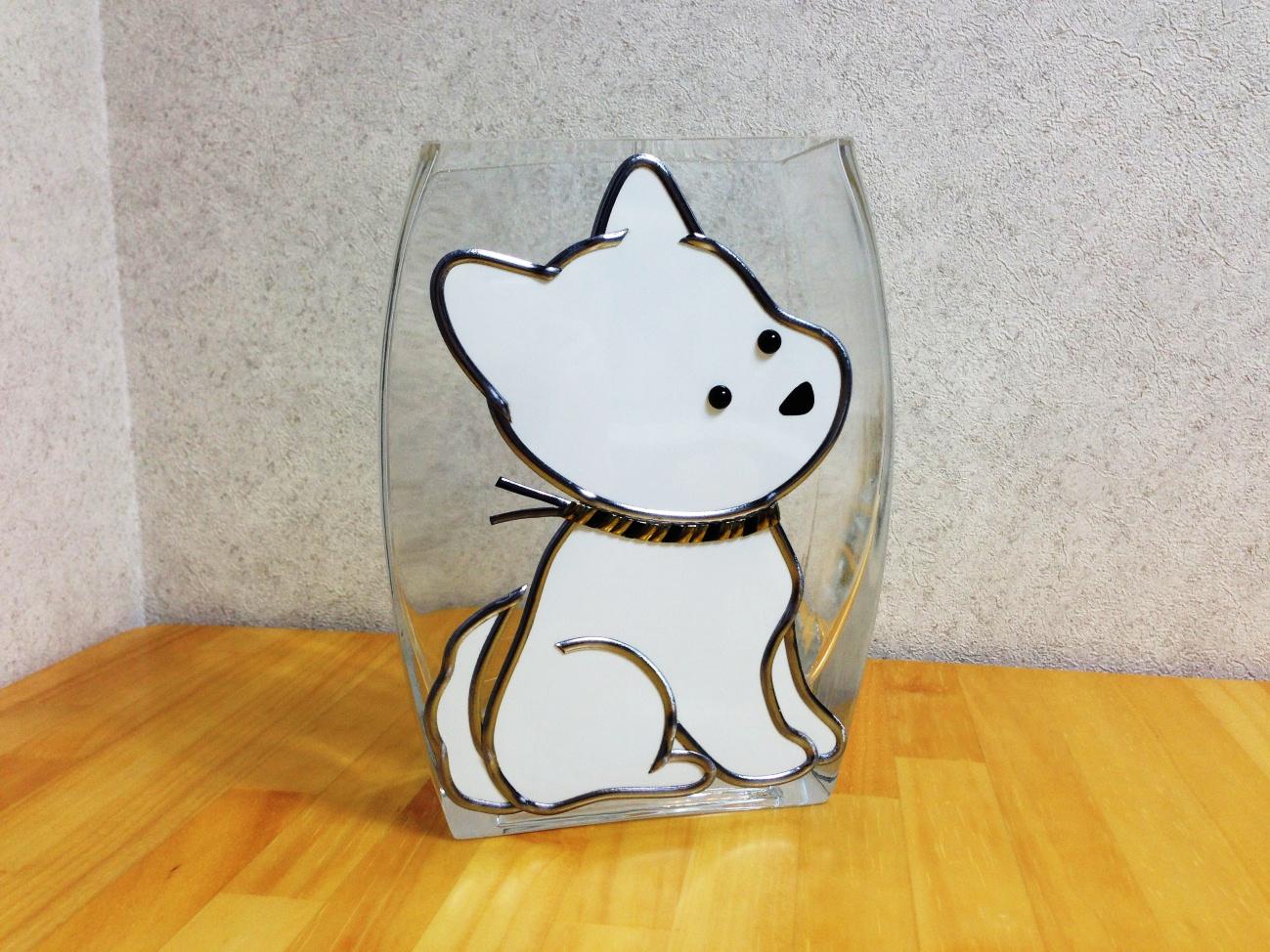 ワンちゃんの花瓶