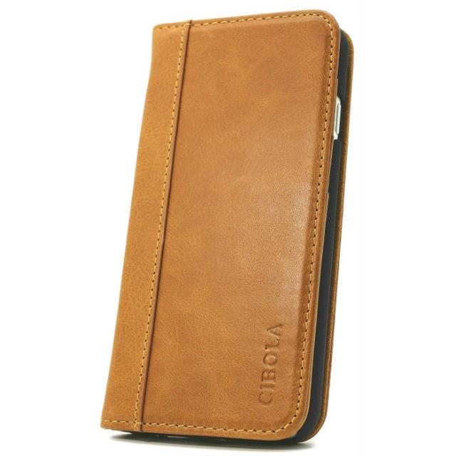 高級牛革 iPhone6s Plus ケース / iPhone6 Plus ケース 手帳型 【 専用箱 保存袋 クロス付 】 本革  (iphone6 Plus / 6s Plus, ブラウン)