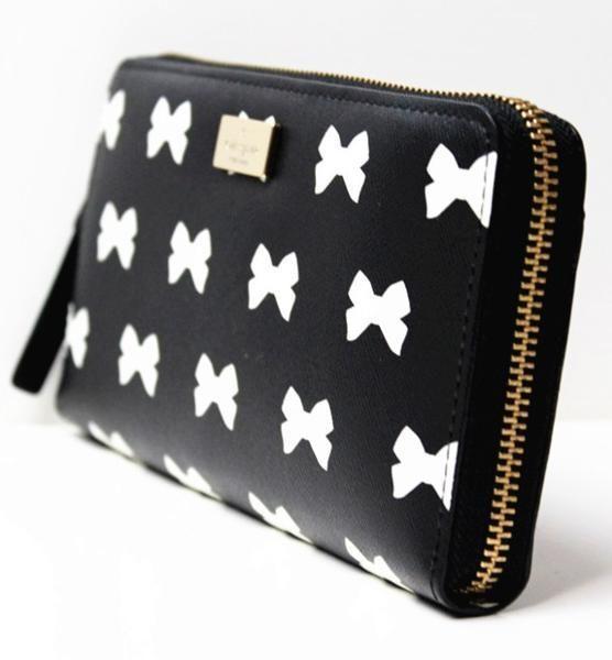 本物・新品保証 ケイトスペード WLRU1904 長財布 ロゴ リボン 財布 ファスナー
